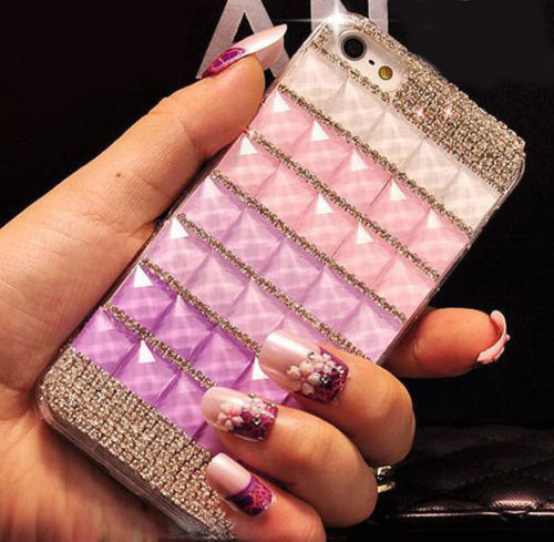 Bling Crystal Diamond iPhone 6 case,Bling iphone 6 PLUS case,Crystal iphone 6 Case,Luxury Bling Crystal iphone 6 PLUS case cover White Purple