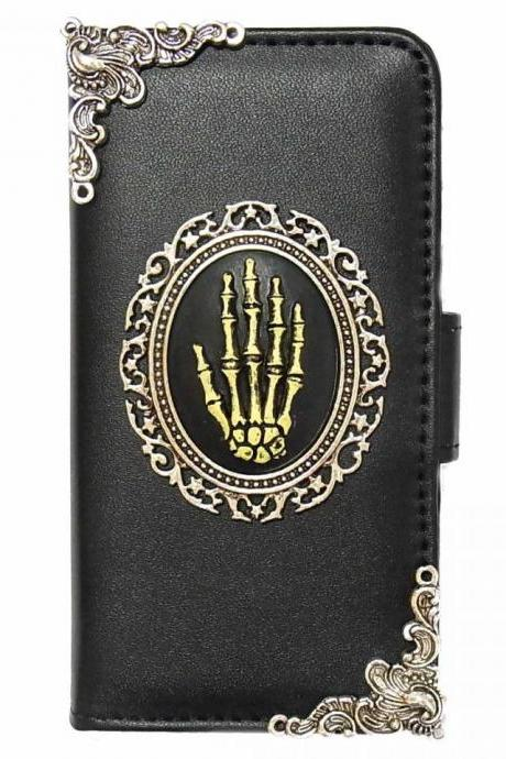 Hand iPhone 7 Wallet case,iphone 7 4.7 leather case, Hand iphone 7 Plus Flip Case,Vintage Hand iPhone 7 PLUS leather wallet case cover pouch Black